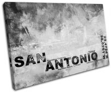 San Antonio TX City Typography - 13-2125(00B)-SG32-LO